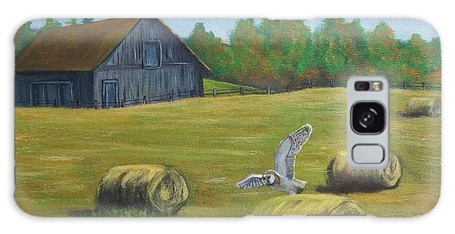 Country Painting Galaxy Case featuring the painting Early Fall by Tami Booher