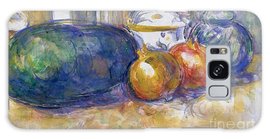 Cezanne Galaxy Case featuring the painting Still-life With A Watermelon And Pomegranates by Paul Cezanne