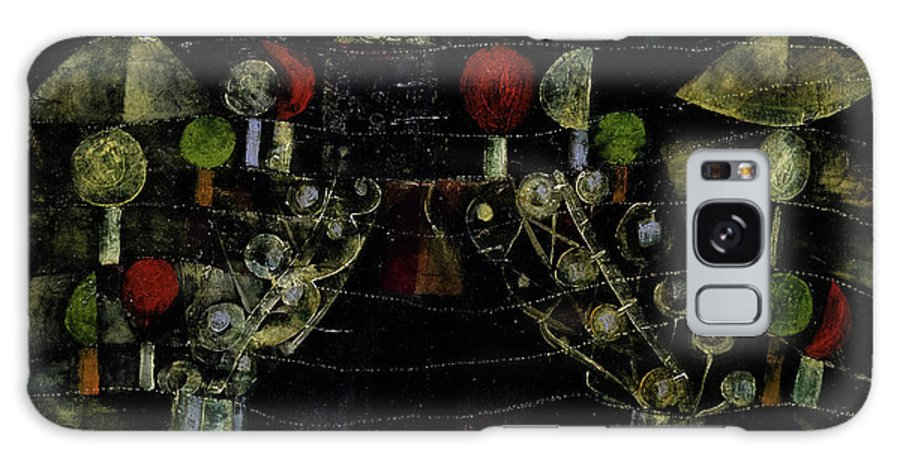 Paul Klee Galaxy Case featuring the painting Women's Pavilion by Paul Klee