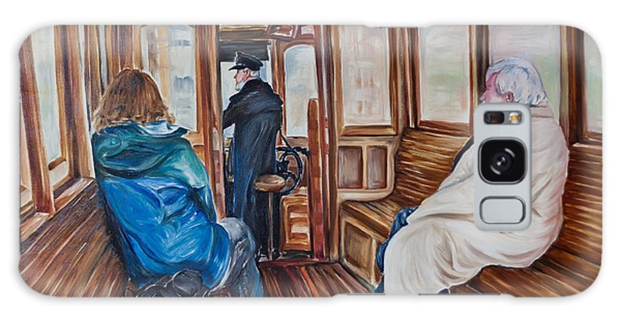 Tram Galaxy S8 Case featuring the painting The Tram by Jennifer Lycke