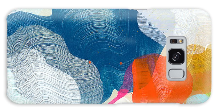 Abstract Galaxy Case featuring the painting A Little Adventure by Claire Desjardins