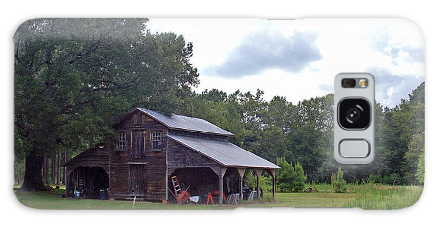 Tobacco Barn Galaxy S8 Case featuring the photograph A Simpler Time--Tobacco Barn Series by Suzanne Gaff