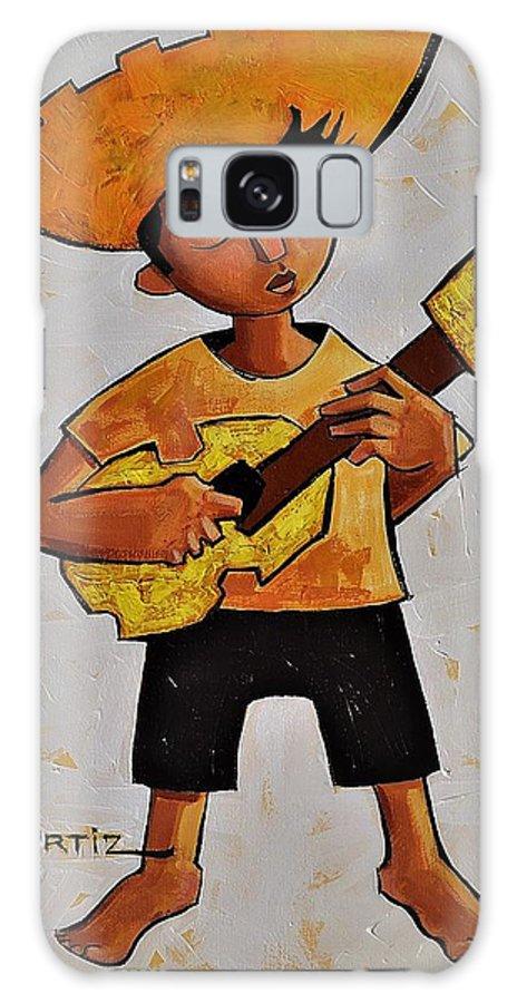 Jibaro Galaxy Case featuring the painting Afincando by Oscar Ortiz