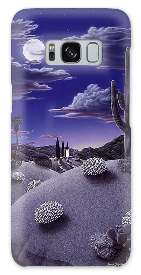 Desert Galaxy Case featuring the painting After the Rain by Snake Jagger