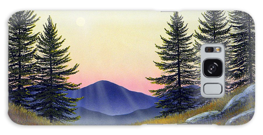 Landscape Galaxy S8 Case featuring the painting Alpine Meadow by Frank Wilson