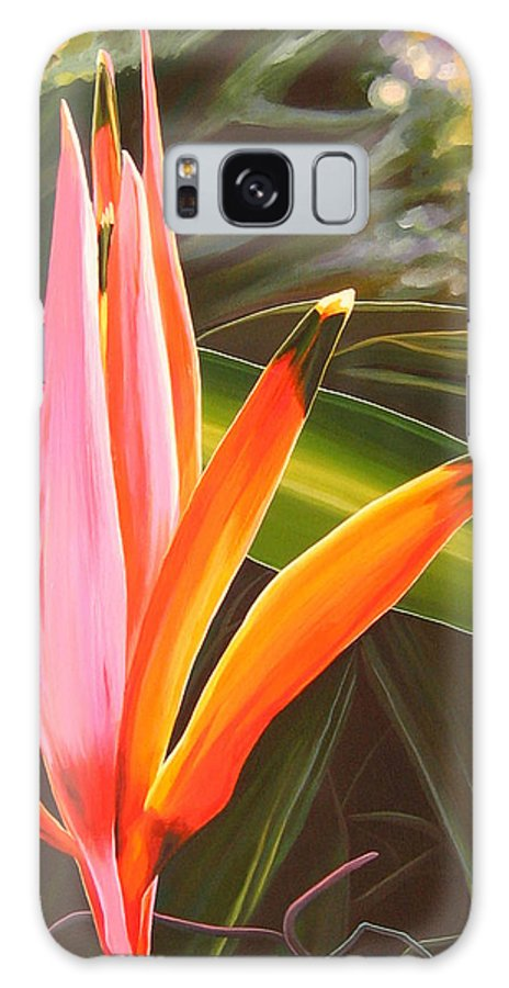 Botanical Galaxy S8 Case featuring the painting Another World by Hunter Jay
