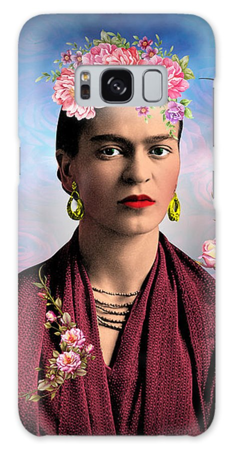 Frida Kahlo Galaxy Case featuring the digital art Frida Kahlo 2 by Mark Ashkenazi