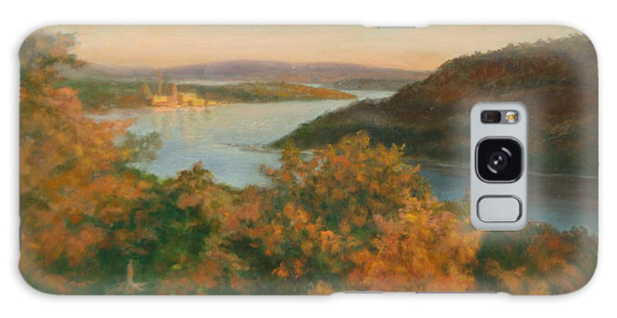 Landscape Galaxy S8 Case featuring the painting Autumn Hudson Highlands by Phyllis Tarlow