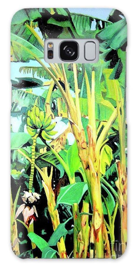 Banana Tree Galaxy Case featuring the painting Banana tree by Jose Manuel Abraham