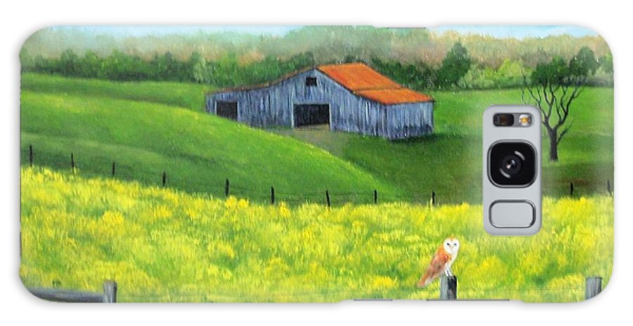 Barn Galaxy Case featuring the painting Barn n Owl by Tami Booher