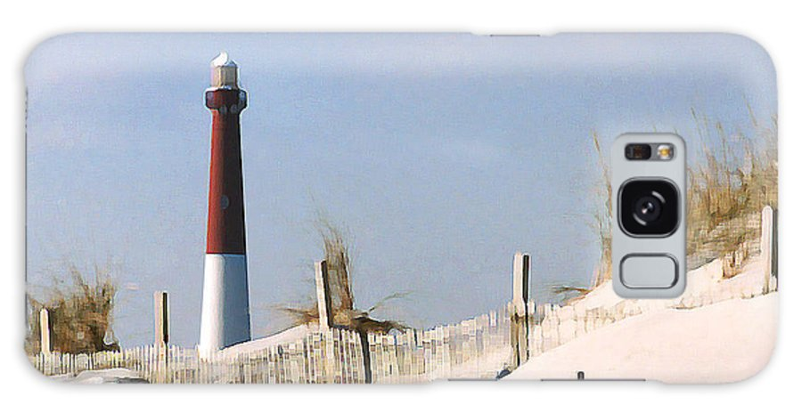 Barnegat Galaxy Case featuring the photograph Barnegat Lighthouse by Steve Karol