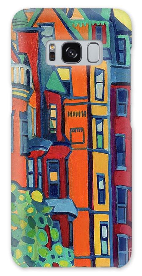 Architecture Galaxy Case featuring the painting Beacon Street Back Bay Boston by Debra Bretton Robinson