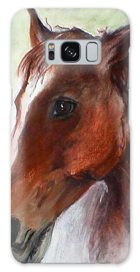Horse Galaxy S8 Case featuring the drawing Becky by Cori Solomon