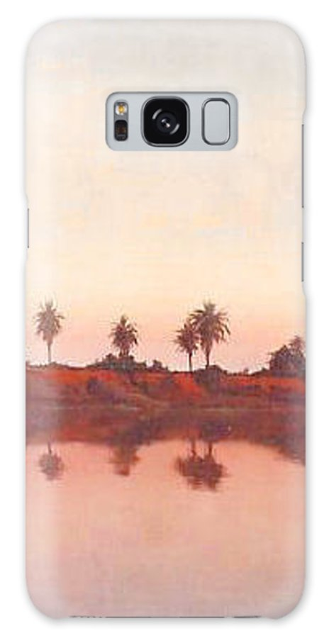 Sunset Galaxy S8 Case featuring the painting Bolsa Chica by Philip Fleischer