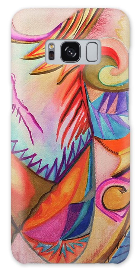 Impressionist Galaxy Case featuring the drawing Boomerang by Suzanne Udell Levinger