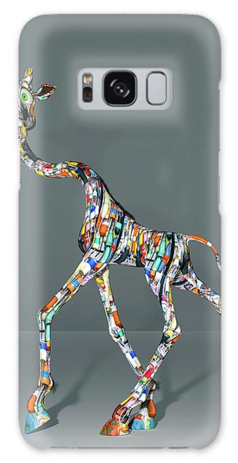 Giraffe Galaxy Case featuring the digital art Buoy Giraffe Humor by Betsy Knapp