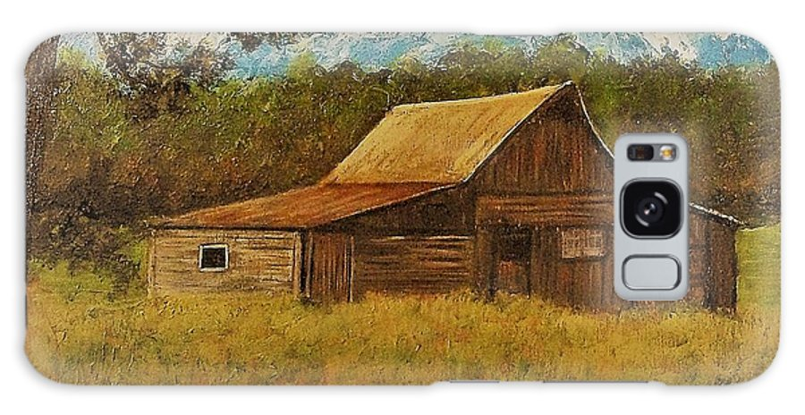 Landscape Galaxy Case featuring the painting Cabin by Tami Booher