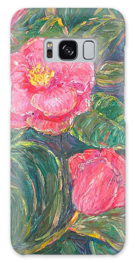 Impressionism Galaxy S8 Case featuring the painting Camelias by Kendall Kessler