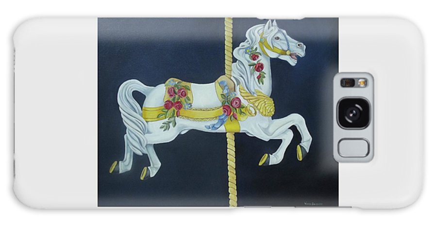 Horse Galaxy S8 Case featuring the painting Carousel Horse 1 by Wanda Dansereau