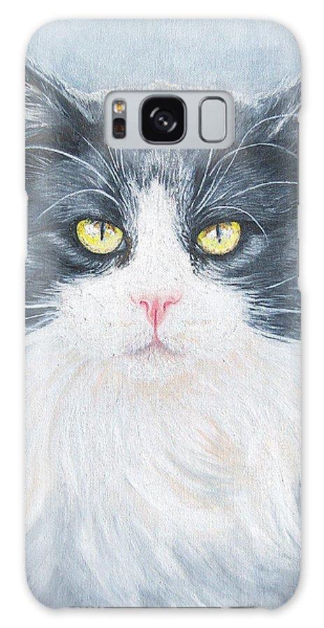 Pet Portrait Artist Galaxy S8 Case featuring the painting Cat Print Pet Portrait Artist For Hire Commission by Diane Jorstad