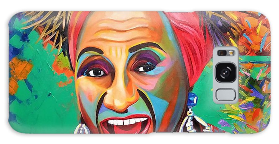 Celia Cruz Galaxy Case featuring the painting Celia by Jose Manuel Abraham