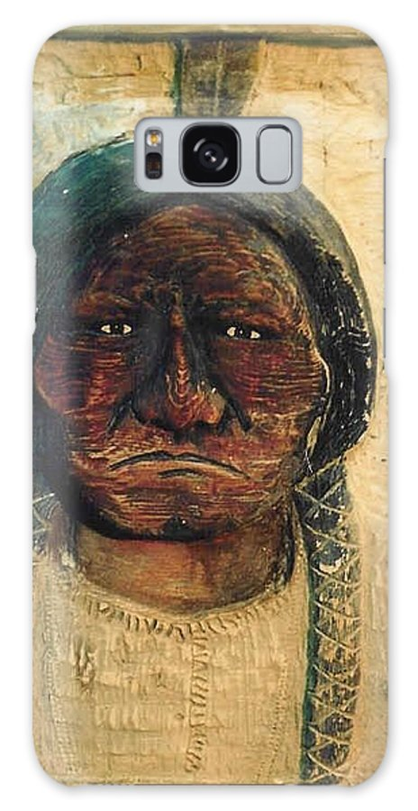 Indian Galaxy S8 Case featuring the sculpture Chief Sitting Bull by Michael Pasko