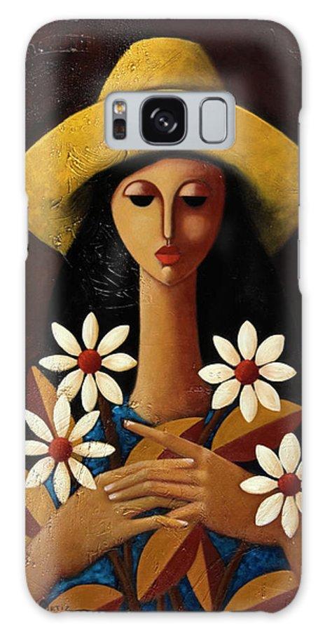 Puerto Rico Galaxy Case featuring the painting Cinco Margaritas by Oscar Ortiz