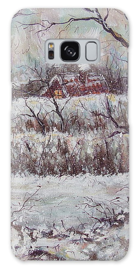 Landscape Galaxy S8 Case featuring the painting Cold Winter by Natalie Holland
