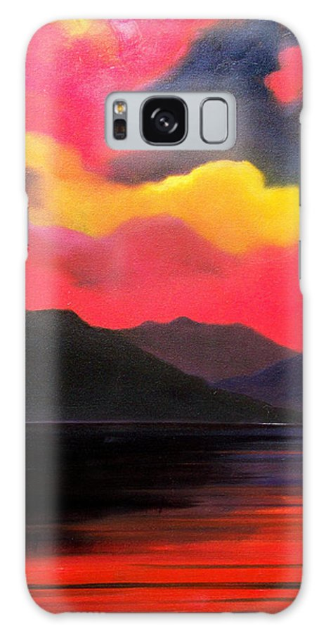 Surreal Galaxy S8 Case featuring the painting Crimson clouds by Sergey Bezhinets