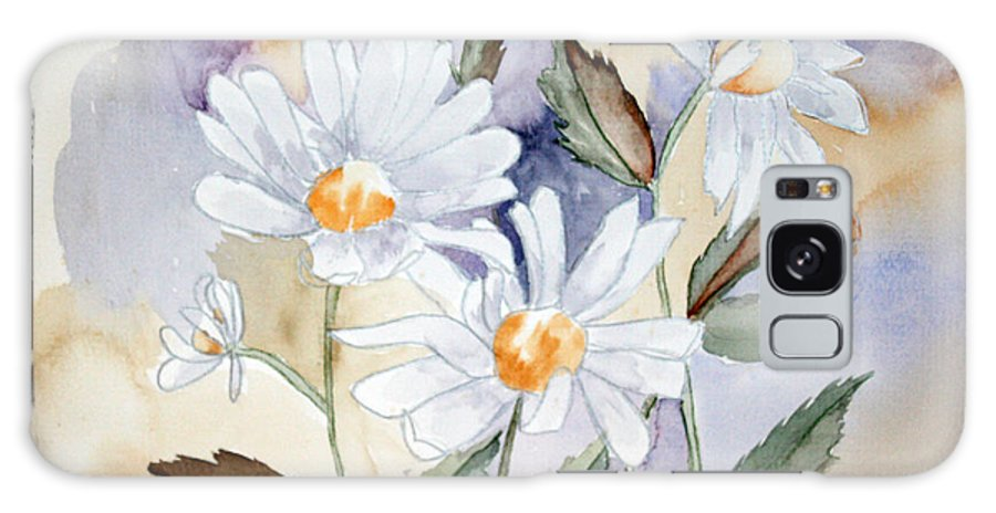 Flowers Galaxy Case featuring the painting Daisy Days by Patricia Novack