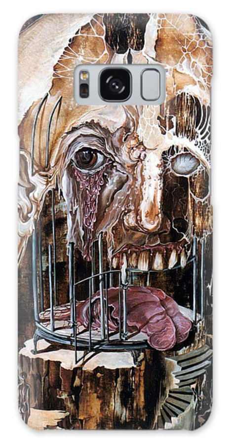 Surrealism Galaxy Case featuring the painting Deterioration Of Mind Over Matter by Otto Rapp