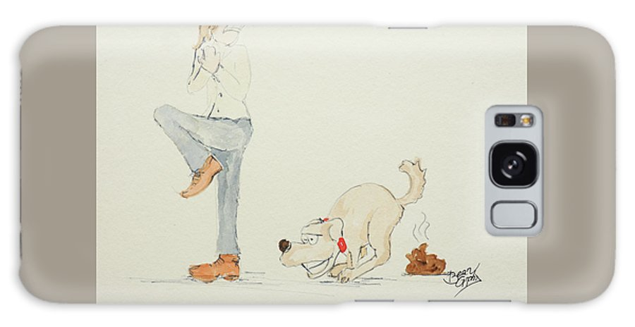 Watercolor Galaxy Case featuring the painting Dog Poo by Andreas Berheide