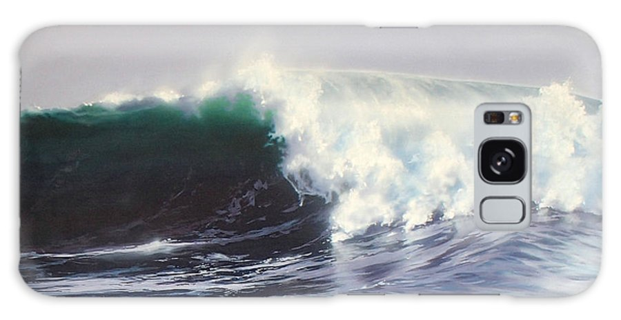 Surf Painting Galaxy Case featuring the painting Eight Foot At Newport by Philip Fleischer