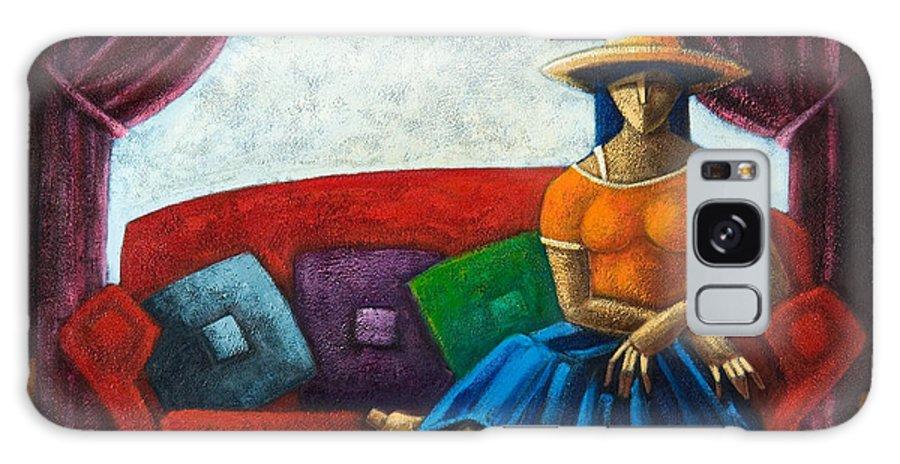 Puerto Rico Galaxy Case featuring the painting El Ultimo Romance Del Verano by Oscar Ortiz