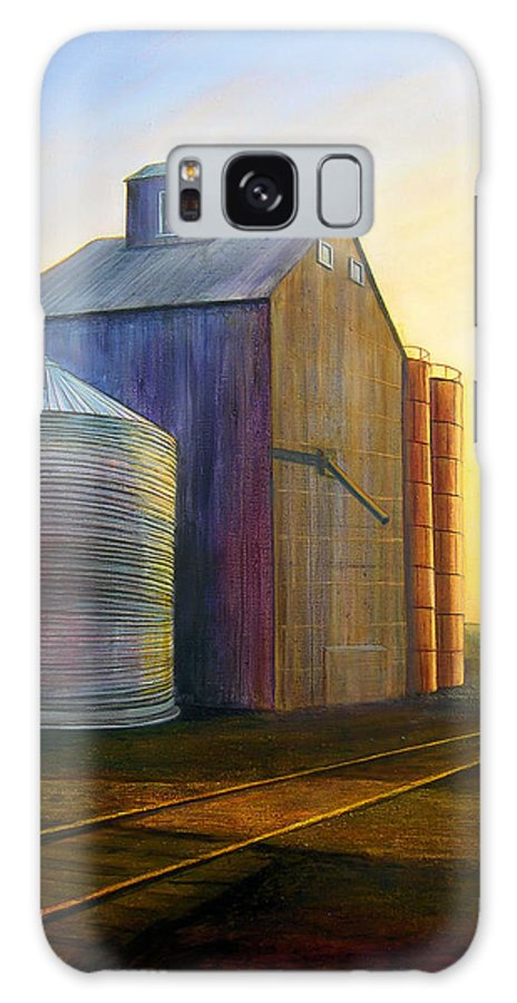 Silos Galaxy S8 Case featuring the painting Estes Road Twilight by Leonard Heid