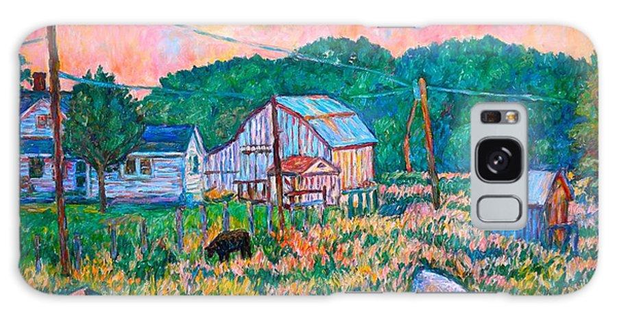 Landscape Galaxy S8 Case featuring the painting Farm Near Fancy Gap by Kendall Kessler