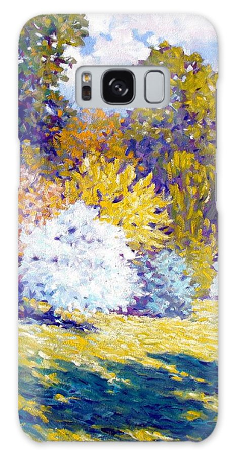 Landscape Galaxy S8 Case featuring the painting Field I by Kevin Lawrence Leveque
