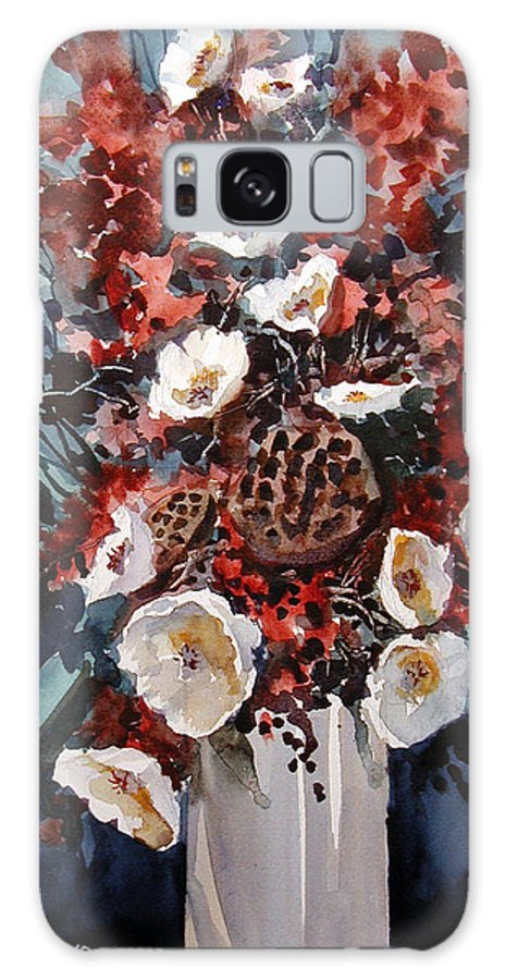 Floral Galaxy S8 Case featuring the painting Floral by Charles Rowland