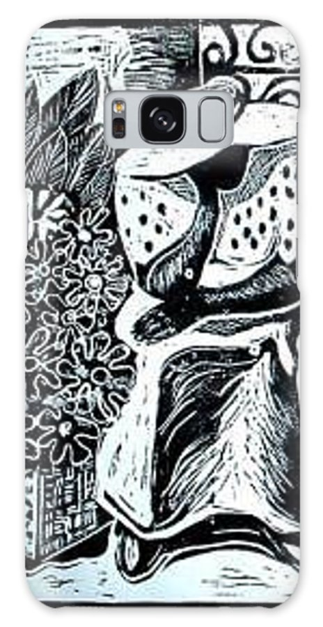 Everett Spruill Galaxy S8 Case featuring the painting Flower Vendor by Everett Spruill