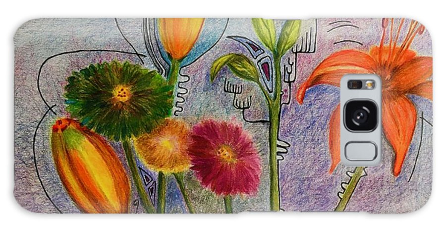 Flowers Galaxy Case featuring the photograph Flowers for Me by Suzanne Udell Levinger