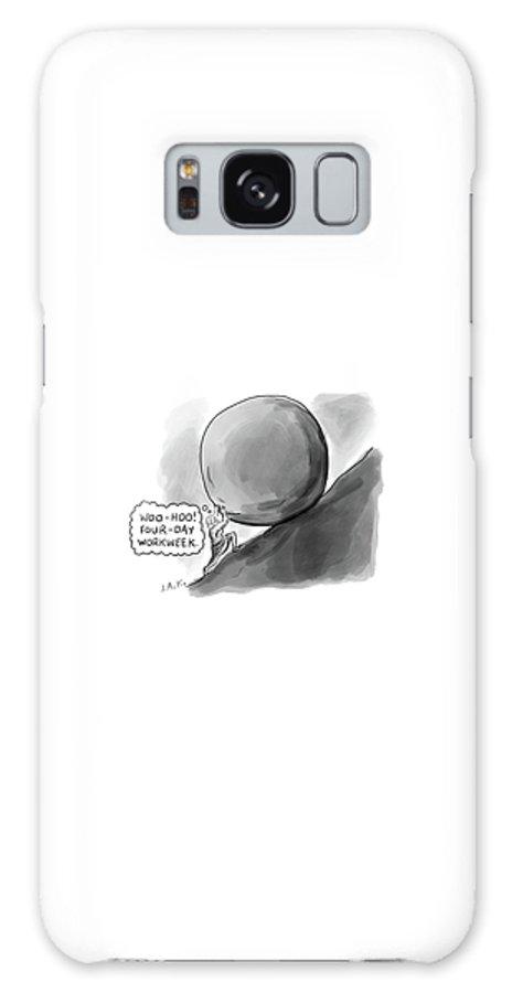 Captionless Galaxy S8 Case featuring the drawing Four Day Work Week by Jason Adam Katzenstein