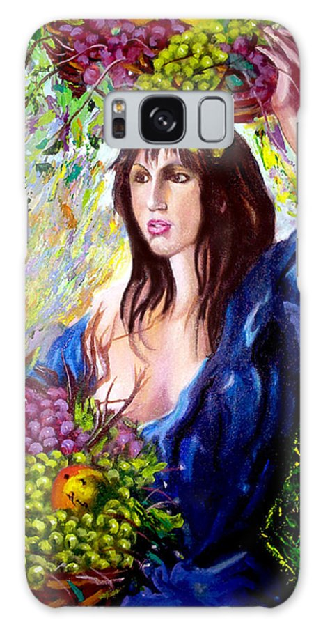 Cuban Art Galaxy Case featuring the painting Fruit lady by Jose Manuel Abraham