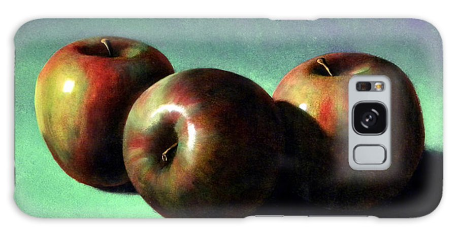 Still Life Galaxy S8 Case featuring the painting Fuji Apples by Frank Wilson