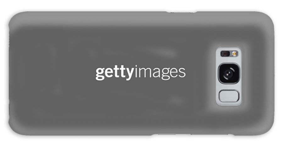 Getty Images Logo Galaxy S8 Case featuring the digital art Getty Images White Logo by Getty Images