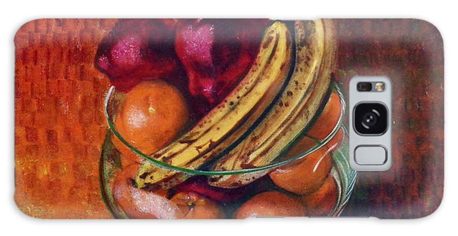 Oil Painting On Canvas Galaxy S8 Case featuring the painting Glass Bowl Of Fruit by Sean Connolly