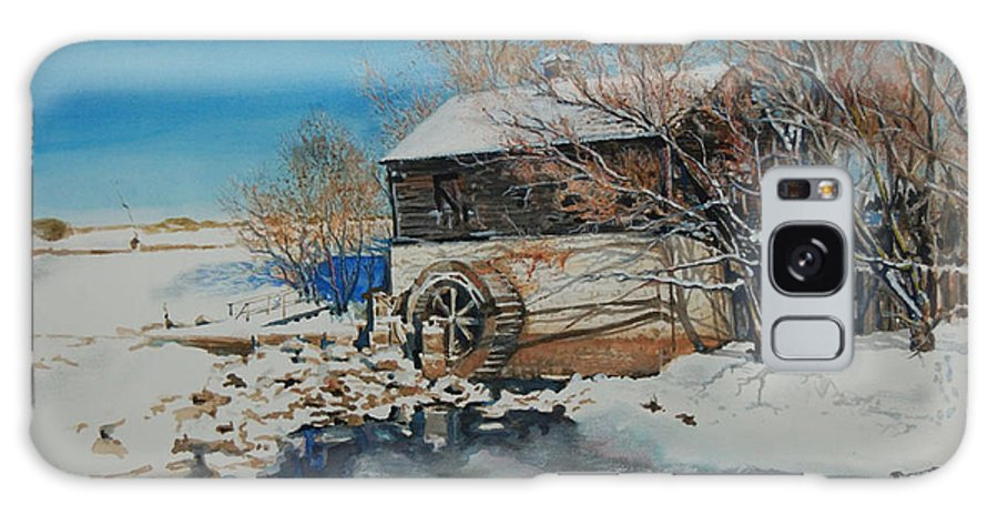 Mill Galaxy S8 Case featuring the painting Grants Old Mill by Susan Moore