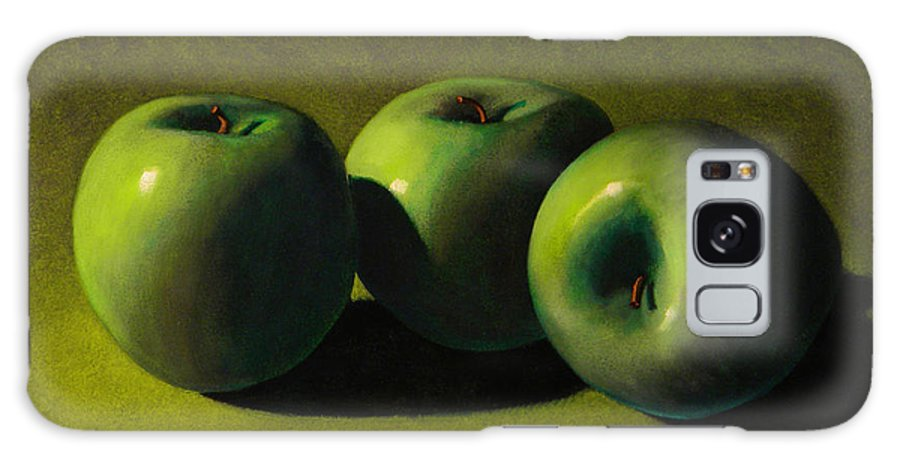 Still Life Galaxy S8 Case featuring the painting Green Apples by Frank Wilson