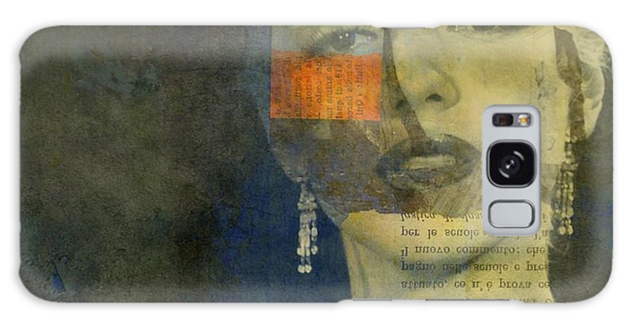 Marilyn Monroe Galaxy Case featuring the mixed media Help Me Make It Through The Night - Marilyn Monroe by Paul Lovering