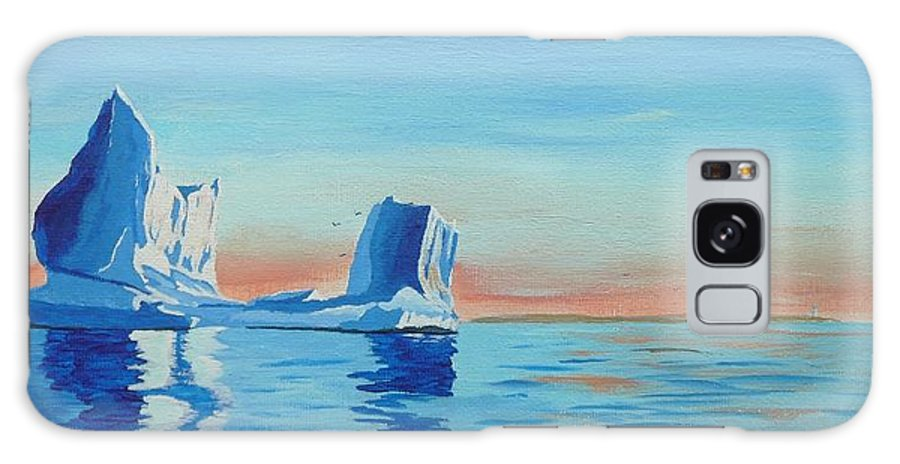 Iceberg Galaxy S8 Case featuring the painting Ice Island by Anthony Dunphy
