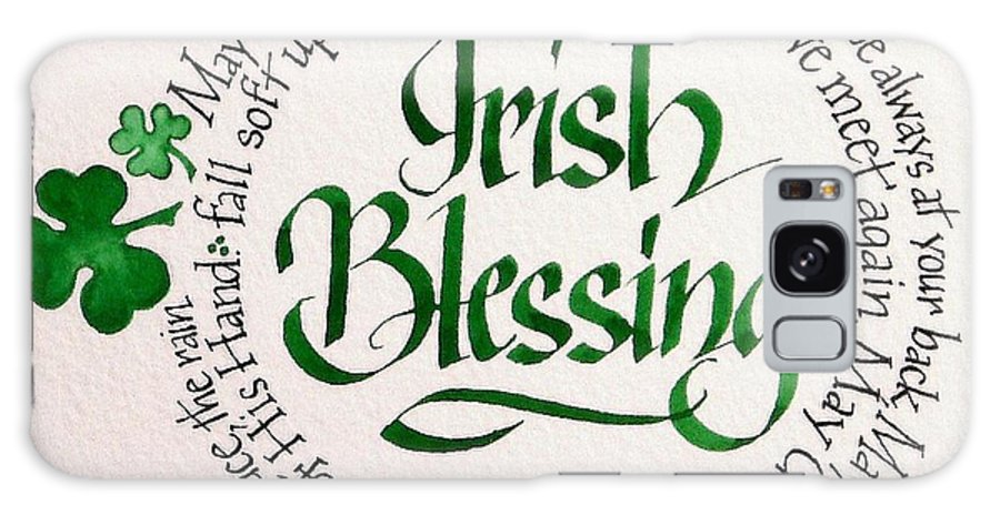 Art Galaxy S8 Case featuring the painting Irish Blessing Round by Carol Sabo